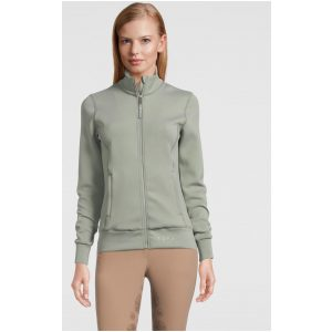 PS OF SWEDEN FAITH FULL ZIP SWEATER THYME SS21