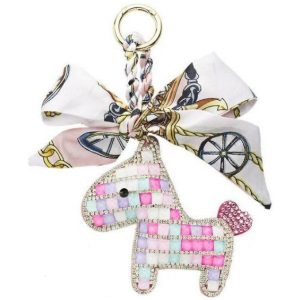 SOMEH CRYSTAL PONY KEYCHAIN MULTI COLOR