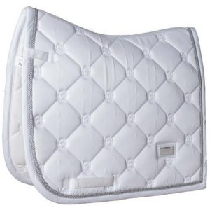 EQUESTRIAN STOCKHOLM SADDLE PAD WHITE PERFECTION SILVER