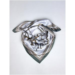 PS OF SWEDEN ADINE SILK SCARF THYME/SAND SS21