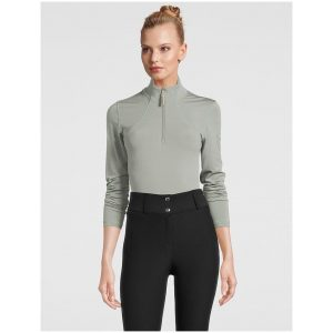 PS OF SWEDEN ALESSANDRA HALF-SIP SWEATHER THYME SS21