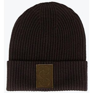 PS OF SWEDEN SALLY KNITTED BEANIE COFFEE FW21